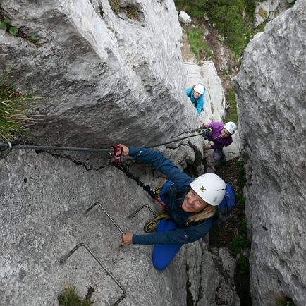 Family via ferrata experience (Meetingpoint St. Ulrich)