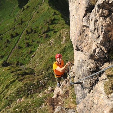 Via ferrata tour Pillerseetal