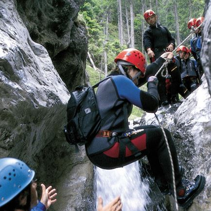 Canyoning for adults at the Wilder Kaiser