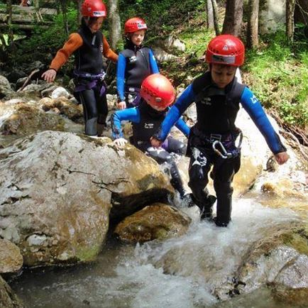 Canyoning für Kinder am Wilden Kaiser