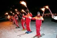Fireworks and Show of the ski school
