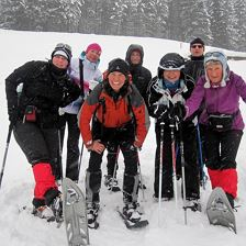 Guided snowshoe hiking
