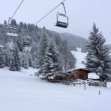 Chalet Julia im Winter mit Lift