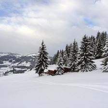 Chalet Julia Winter Panorama Ansicht