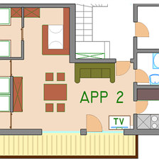 Huter St. Johann in Tirol, Apartment 2 Plan