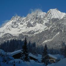 Aussicht Wilder Kaiser Winter