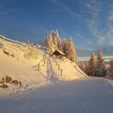 Winter am Hausberge Chor