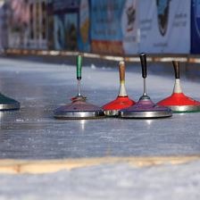 Asphalt curling alley Itter