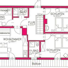 Apartment for six persons