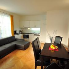 H) 1 bedroom, 1 living-bed-room, kitchen