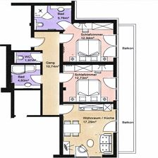 CHORALPE, 2 bedrooms, living room, bath