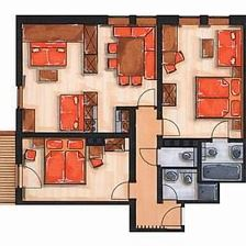 Fleiding /apartment/2 bedrooms/shower, W