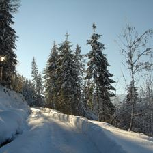Winter hike to Glantersberg